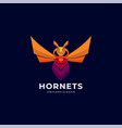 logo hornets colorful style vector image