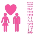Love Persons Flat Icon and Bonus vector image