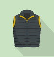 modern vest icon flat style vector image vector image