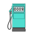petrol filling stationoil single icon in cartoon vector image