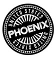 phoenix black and white badge vector image vector image