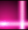 pink background with stream of binary code vector image vector image
