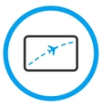Plane Route Circled Icon vector image