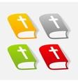 realistic design element bible vector image