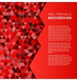 Red geometric background with triangles vector image