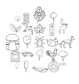 reserve icons set outline style vector image