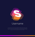 s-monogram-logo vector image vector image