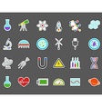 Science stickers set vector image vector image