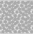 seamless floral pattern grayscale vector image vector image