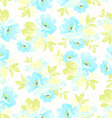 Seamless floral pattern with blue flowers vector image vector image