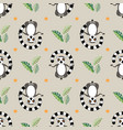 seamless pattern cartoon style icon of meditating vector image vector image