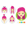 set of avatars vector image