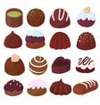 set of chocolate candies vector image vector image