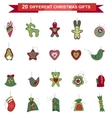 Set of different Christmas decorations vector image vector image