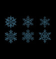 set shiny snowflakes vector image vector image