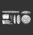 set with bakery products vector image vector image