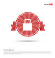 shopping bag icon - red ribbon banner vector image
