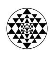 sri yantra symbol vector image vector image