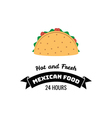 taco traditional mexican food label template vector image vector image