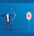 target business concept businessman hitting vector image