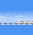 travel train cartoon flat vector image vector image