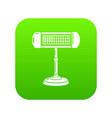 ufo heater icon green vector image vector image