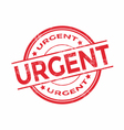 Urgent rubber stamp vector image vector image