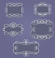 vintage frames and borders vector image vector image