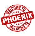 welcome to phoenix vector image vector image