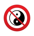 Ying yang sign icon Harmony and balance symbol vector image vector image