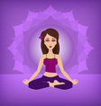 Yoga lotus pose flat vector image