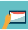 tablet in hand vector image