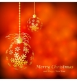 Abstract Christmas ball from paper vector image vector image