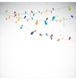 abstract light garland vector image vector image