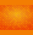 abstract orange geometric tile textured background vector image vector image