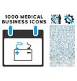 Accumulator Calendar Day Icon With 1000 Medical vector image vector image