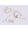 Adorable yawning dog vector image vector image
