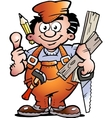 an Carpenter Handyman vector image vector image