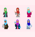arabic woman adult character arabian asia vector image