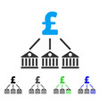 bank pound expenses flat icon vector image vector image