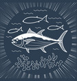banner for fishing linear style vector image vector image
