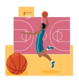 Basketball Sport Team Concept Icon Flat Design vector image