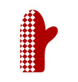 bbq kitchen glove icon vector image