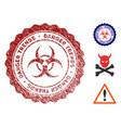 biohazard danger trends watermark with grunge vector image