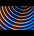 blue ultraviolet neon glowing circles abstract vector image
