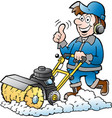 cartoon of a happy handyman worker with his vector image vector image