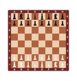 Chess board concept for vector image vector image