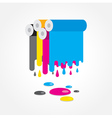 cmyk print colored roll vector image vector image