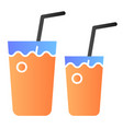 cocktail glasses flat icon two beverages color vector image vector image