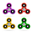 colored finger hand spinner set vector image